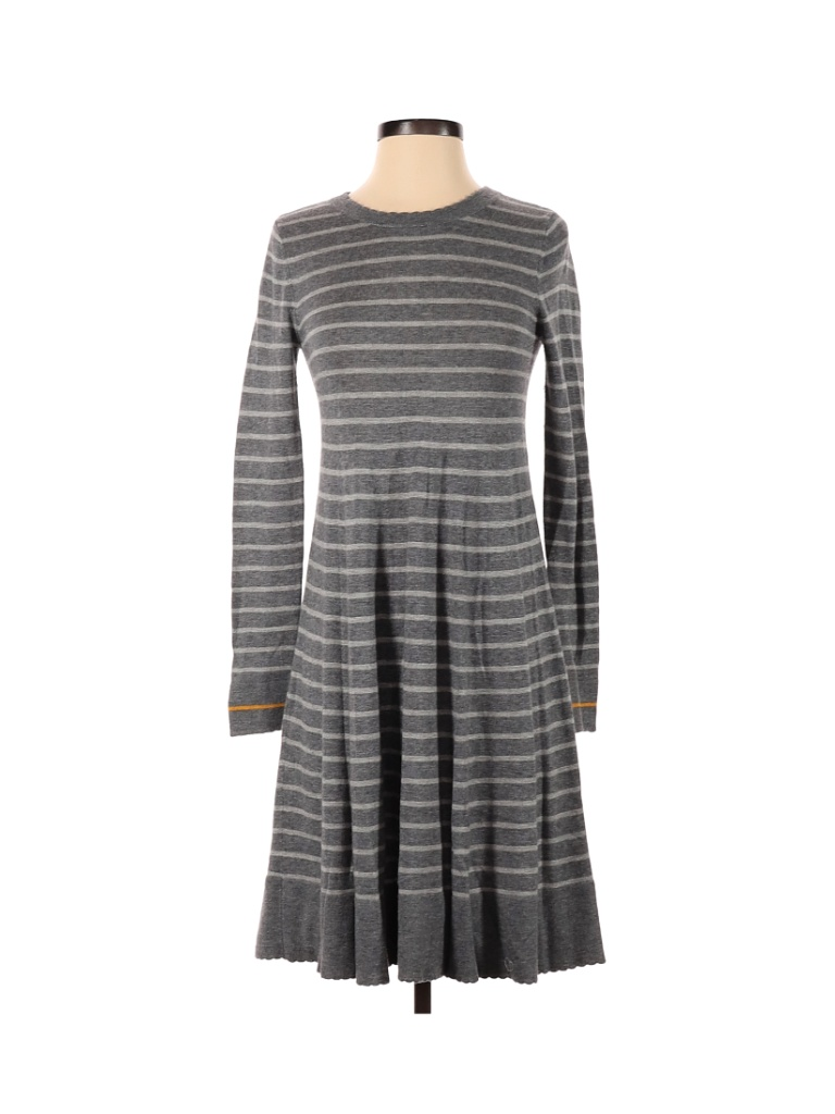 Philosophy Republic Clothing Casual Dress - A-Line: Gray Print Dresses - Used - Size X-Small