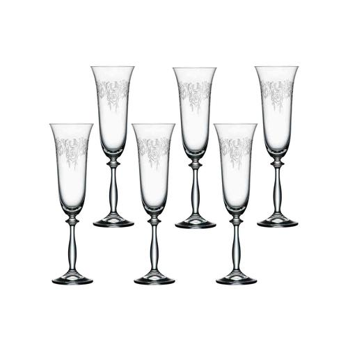 Bohemia Cristal ROMANCE Sektglas 190 ml 6er Set
