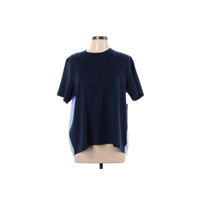Athleta Active T-Shirt: Blue Solid Activewear - Size Large Petite