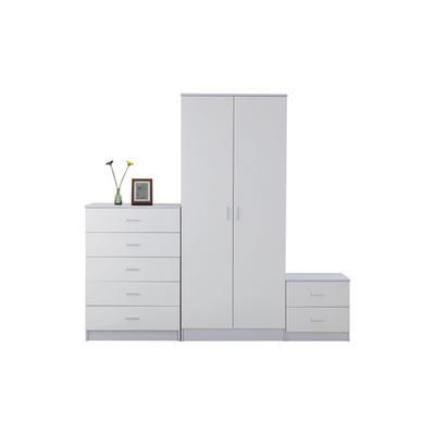 HomCom Three-Piece Bedroom Furniture Set