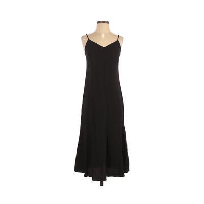 Lulu's Casual Dress - Midi: Black Solid Dresses - Used - Size X-Small