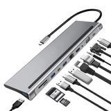 Hub USB type-c 11 en 1, 6, 7, 8,...