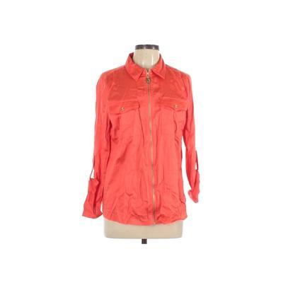 MICHAEL Michael Kors Jacket: Orange Solid Jackets & Outerwear - Size 12