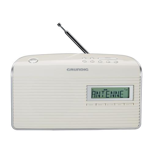 GRUNDIG Music 7000 DAB+ Portables Radio (White/Silver)
