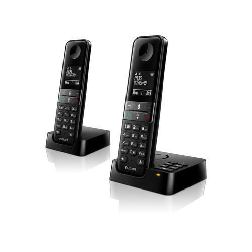 PHILIPS D4752B Schnurlostelefon mit Anrufbeantworter