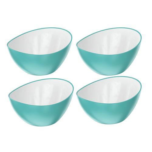 ERNESTO® Salatschüssel / Salatschalen 4er (salatschüssel 4er set/blau)