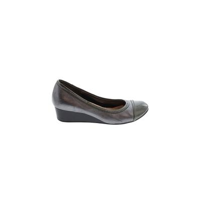 Cole Haan Nike Wedges: Gray Solid Shoes - Size 6