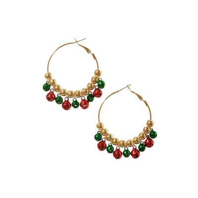 Boston Proper - Jingle Bell Hoop Earrings - Gold - One Size