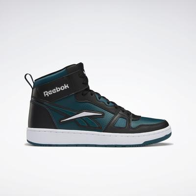 Reebok Unisex Resonator Mid Basketball Shoes in Core Black/Midnight Pine/Ftwr White Size M 11 / W 12.5 - Basketball Shoes