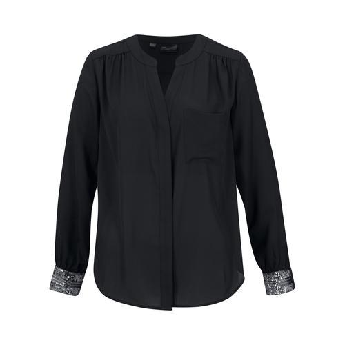 Bluse umweltfreundlich gefärbt mit CleanDye mit Pailletten