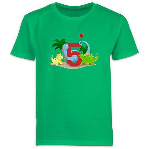 Kindergeburtstag Geburtstag Geschenk 5. Geburtstag Dinos T-Shirts Kinder grün Kinder