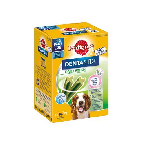 Pedigree Denta Stix Daily Fresh - 28 Stück - Für mittelgroße Hunde 10 - 25 kg