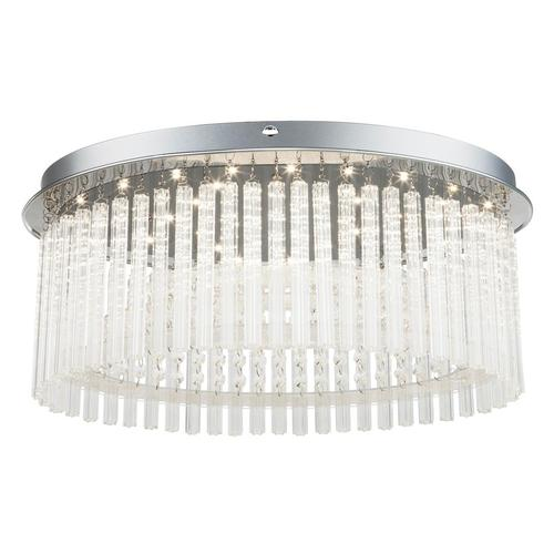LED Decken Chrom Lampe Schlaf Gäste Zimmer Kristall Glas Behang Leuchte Globo 68569-21