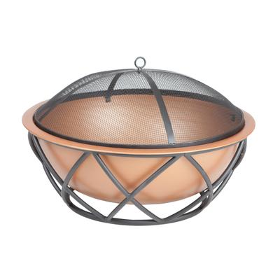 Barzelonia Round Copper Look Fire Pit by Well Traveled Imports, Inc. in Copper