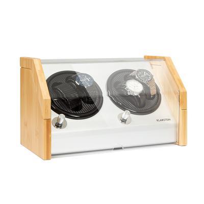 Garonne 4 watch winder, 2 turntables, 4 watches, 3 speeds, 4 modes, bamboo