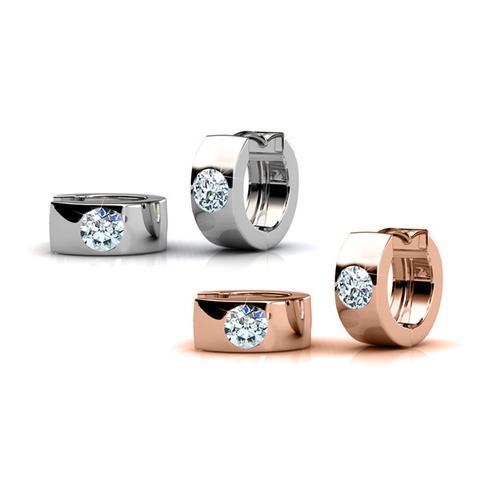 Damen-Ohrringe mit Kristall: Silber / 1