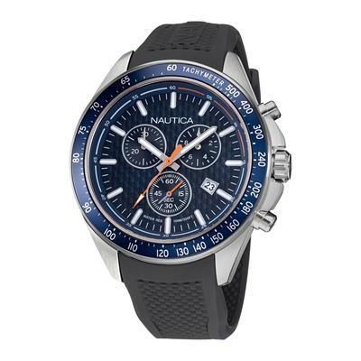 Nautica Men's Ocean Beach Stainless Steel And Silicone Watch Multi, OS