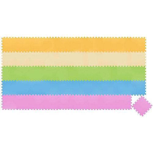 50 Teile Baby Kinder Puzzlematte ab Null - 30x30 Puzzle Spielmatte Krabbelmatte mehrfarbig