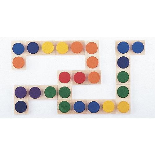 Holzspielzeug Farben Domino