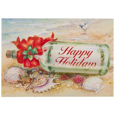 Brighten the Season Happy Holidays Bottle Greeting Cards