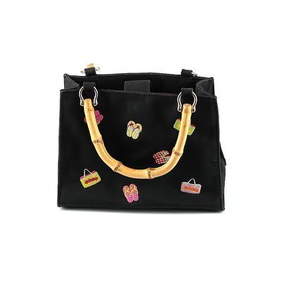 Tianni Handbags Satchel: Black Solid Bags