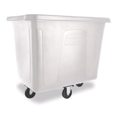 Rubbermaid FG461600 WHT Trash Cart w/ 500 lb Capacity, White