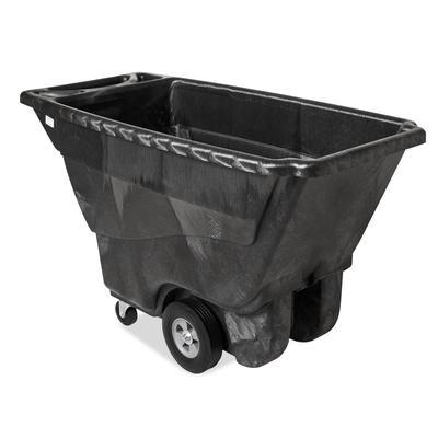 Rubbermaid FG9T1400 BLA 1/2 cu yd Trash Cart w/ 850 lb Capacity, Black