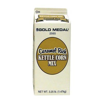 Gold Medal 2565 3 1/4 lb Caramel Rich Kettle Corn Mix, 6/Case