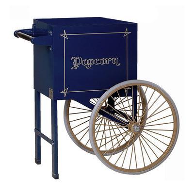 Gold Medal 2659NB Popcorn Cart w/ 2 Spoke Wheels, Navy Blue