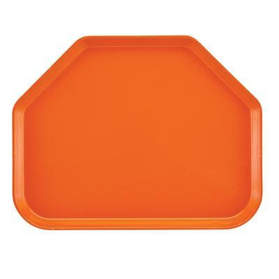"""Cambro 1422TR222 Fiberglass Camtray? Cafeteria Tray - 22""""L x 14""""W, Orange Pizzaz"""