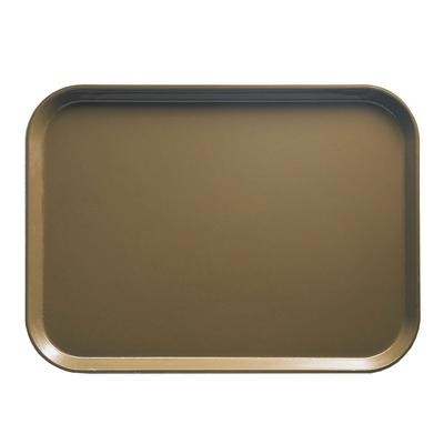 """Cambro 1520513 Fiberglass Camtray? Cafeteria Tray - 20 1/4""""L x 15""""W, Bay Leaf Brown"""