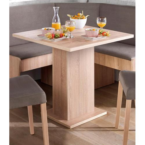 my home Säulen-Esstisch, Breite 68 oder 110 cm beige Säulen-Esstisch Esstische Tische Möbel sofort lieferbar