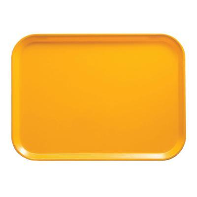 Cambro 1826504 Fiberglass Camtray? Cafeteria Tray – 25 3/4″L x 17 4/5″W, Mustard