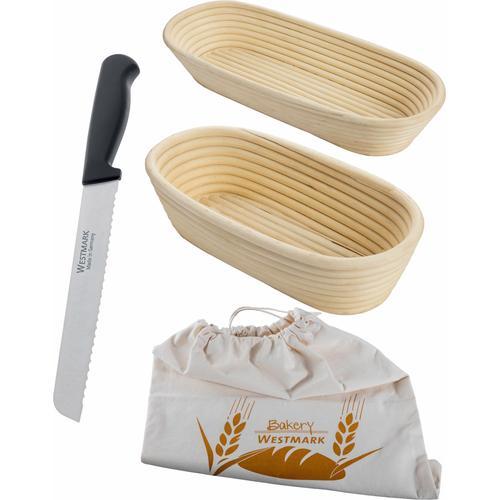 WESTMARK Gärkorb, (4 St.) beige Backhelfer Kochen Backen Haushaltswaren Gärkorb