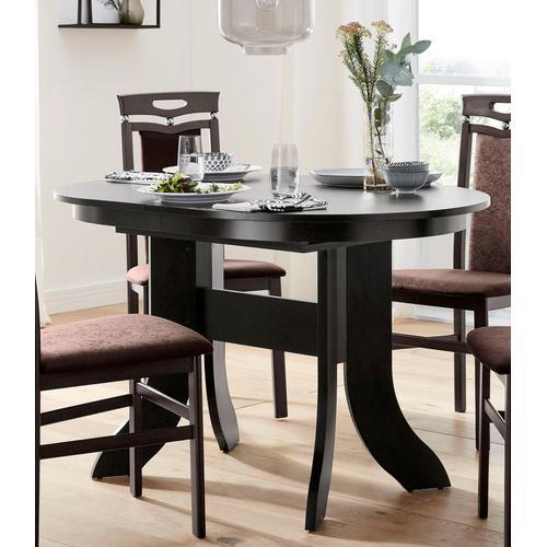 my home Esstisch, Breite 120-160 cm braun Esstisch Esstische Tische Möbel sofort lieferbar