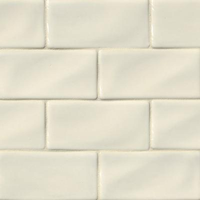 "MS International land Park 3"" x 6"" Ceramic Wall Antique White"
