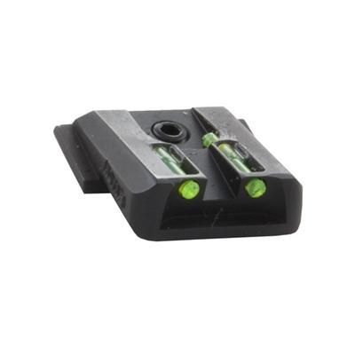 Novak S&W M&P Lo-Mount Fiber Optic Rear Sights - S&W M&P Std F/O Rear Sight