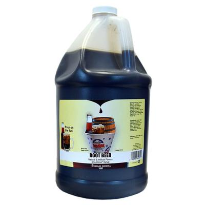 Gold Medal 1231 Root Beer Snow Cone Syrup, Ready-To-Use, (4) 1 gal Jugs