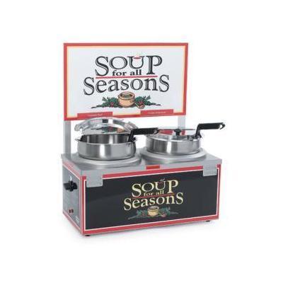 Nemco 6510A-2D7 Double 7 Qt Soup Merchandiser w/ Header