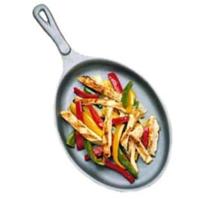"Bon Chef 5037I Oval Cast Iron Skillet, 7 1/8 x 9 7/8"""
