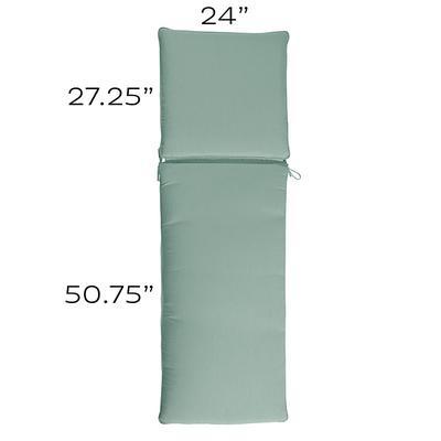 Replacement Chaise Cushion - 24x78 Canvas Spa Sunbrella - Ballard Designs