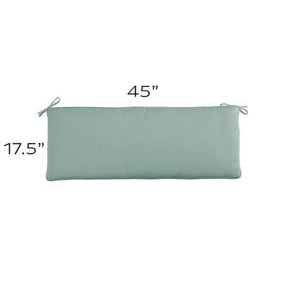 Replacement Bench Cushion - 45x17.5 Canvas Spa Sunbrella - Ballard Designs
