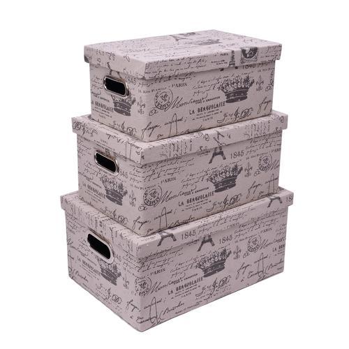 Franz Müller Flechtwaren Aufbewahrungsbox, (Set, 3 St.), faltbar beige Körbe Boxen Regal- Ordnungssysteme Küche Ordnung Aufbewahrungsbox