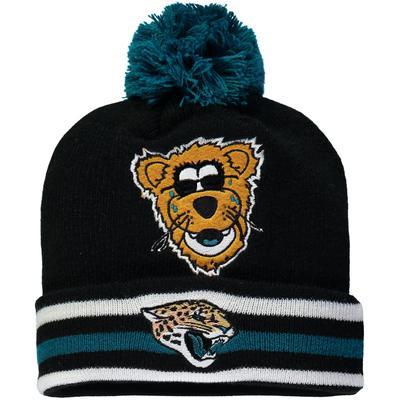Preschool Jacksonville Jaguars Black Mascot Trooper Cuffed Knit Hat With Pom
