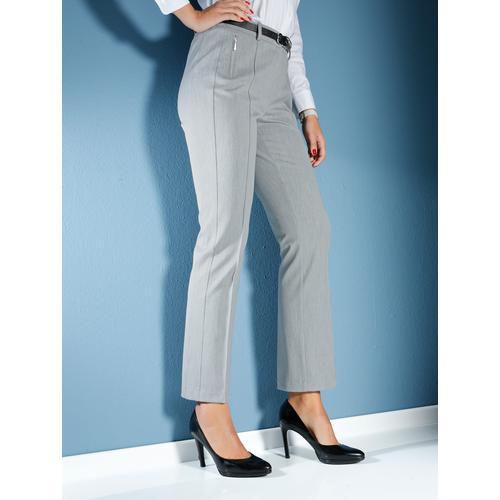 MIAMODA Hose mit Bauchweg-Effekt silberfarben Damen Gerade Hosen lang