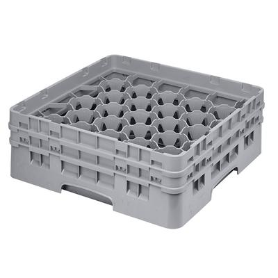 Cambro 30S434151 Camrack? Glass Rack w/ (30) Compartments - (2) Gray Extenders, Soft Gray