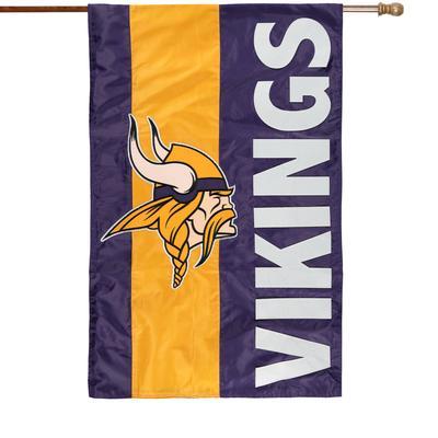 "Minnesota Vikings 28"" x 44"" Double-Sided Embellish House Flag"
