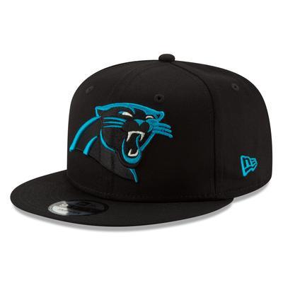 Men's Carolina Panthers New Era Black Basic 9FIFTY Adjustable Snapback Hat