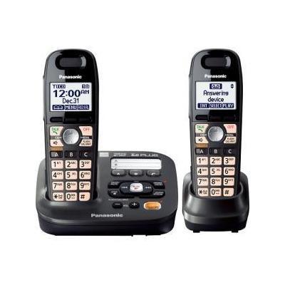 Panasonic Consumer Electronics Panasonic KX-TG6592T DECT 6.0 Cordless Phone with 2-Handsets