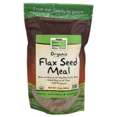 NOW Snacks - NOW Real Food - Organic Flax Seed Meal - 22 oz (624